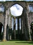 Former cistercian Abbaye dʹAulne, ruins of the abbabtial church.