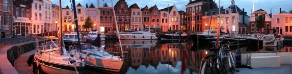 View in the Stadshaven in the city of Goes