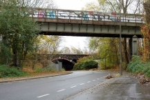 Eisenbahn-Brücke in Dortmund-Huckarde