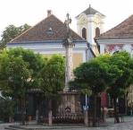 Szentendre, Plague Column on the main square Fö tér