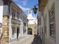 Faro, a view along the narrow streets of the old quarter