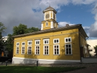 The old wooden town hall
