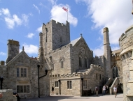 Courtyard and church inside the castle on St Michaelʹs Mount