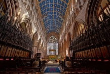 Inside the choir of Carlisle Cathedral