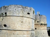 Detail of Otranto castle