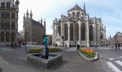 Leuven, City Hall and Collegiale Sint-Pieterskerk