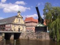 Lüneburg, Alter Hafen mit Altem Kran und Kaufhaus