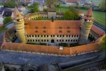 Festung Lichtenau aus der Vogel-Perspektive