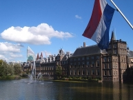 View of the Binnenhof, the centre of government in Den Haag