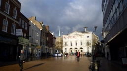 Shire Hall and part of the High Street, Chelmsford