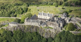 Aerial view of Stirling Castle