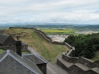 Nether Bailey, looking northward, in Stirling Castle