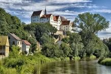 Schloss Colditz über der Zwickauer Mulde