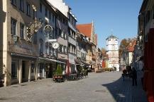 Wangen, Herrenstraße mit den typischen verzierten Häusern