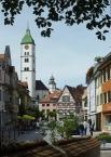 Wangen, Bindstrasse with tower of Sankt Martin