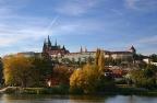 Prag, Blick auf den Hradschin (Hradčany) mit Burg