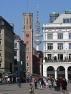 Hamburg, Alte Post in der Hamburger Neustadt, Poststraße mit Telemichel im Hintergrund und Alsterark