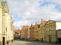 Osnabrück, Blick von der Rathaustreppe auf den Markt