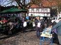 Minden, Wochenmarkt, im Hintergrund die Alte Münze