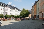 Südlicher Teil des Marktes in Bad Lobenstein.