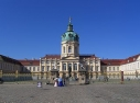 """Schloss Charlottenburg mit Ehrenhof und Reiterstandbild vom """"Großen Kurfürsten Friedrich Wilhelm I."""""""