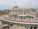 Vatican basilica St. Peter from a roof near saint Peter square.