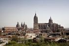 Vista de la ciudad Salamanca desde el parador de turismo