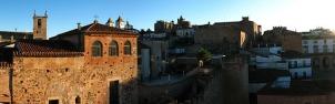 Panorámica de la parte antigua de Cáceres tomada desde la torre bujaco