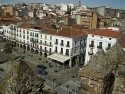 Plaza Mayor de Cáceres vista desde la Torre Bujaco
