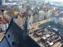 Hauptplatz in Pilsen vom Turm der St.-Bartholomäus-Kathedrale