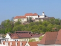 Špilberk in Brno, view from the townhall tower