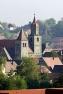 Feuchtwangen, Stiftskirche aus der Entfernung