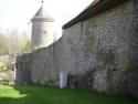 Röttingen, Stadtmauer mit Schneckenturm