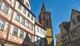 Wertheim, Blick auf die gotische Stiftskirche