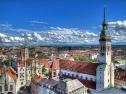München, Altes Rathaus, Talburgtor, Heilig Geist Kirche und Alter Peter