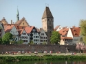Ulm, Stadtmauer mit Metzgerturm