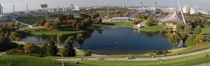 Olympiapark vom Olympiaberg gesehen