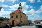 Sreet in old Rauma/Straße in der Altstadt von Rauma