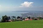 Blick vom Pfänder über Bregenz auf den Bodensee