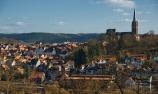 Frankenberg , Blick auf Altstadt mit Liebfrauenkirche
