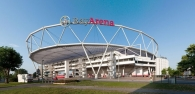 Die BayArena, Heimatstadion von Bayer 04 Leverkusen