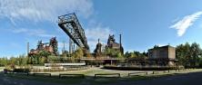 Landschaftspark Duisburg-Nord von Westen aus gesehen