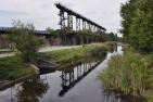 Landschaftspark Duisburg-Nord, Promenade entlang der Alten Emscher