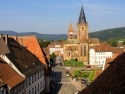 Wissembourg, Abbey Church of Saints Peter and Paul, Sub-Prefecture, View from the roof of City Hall