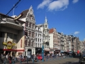 Amsterdam, the old city houses on Damrak