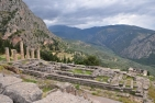 The temple of Apollo (the centre of the Delphi oracle and Pythia)