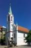 Schlosskirche mit Brunnen, Cottbus
