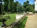 Bronzegreife an der Parkseite des Schlosses im Branitzer Park