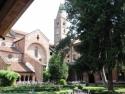 La Chiesa Abbaziale di Staffarda vista dal chiostro