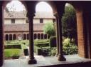 Abbazia di Staffarda il chiostro visto dalla sala capitolare